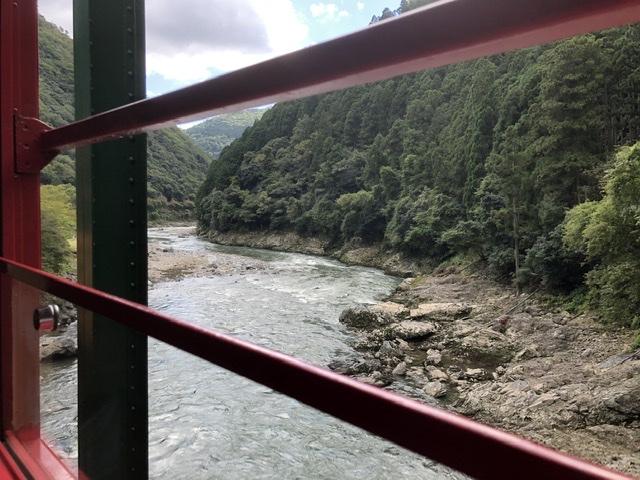 嵯峨野トロッコ列車の川側は左右どっち?